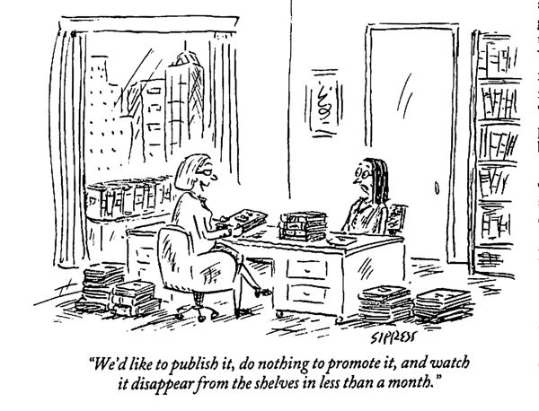 Publishing cartoon