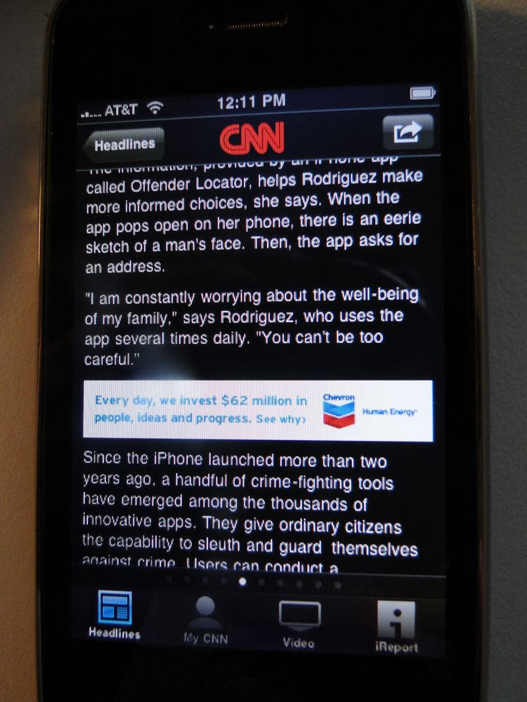 CNN iPhone app 1