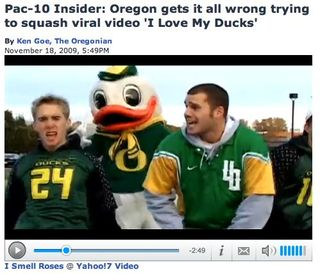 Oregon Duck in video