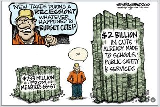 Oregon budget cuts cartoon