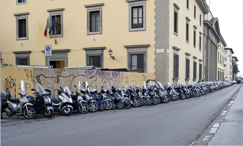 Scooters along Arno