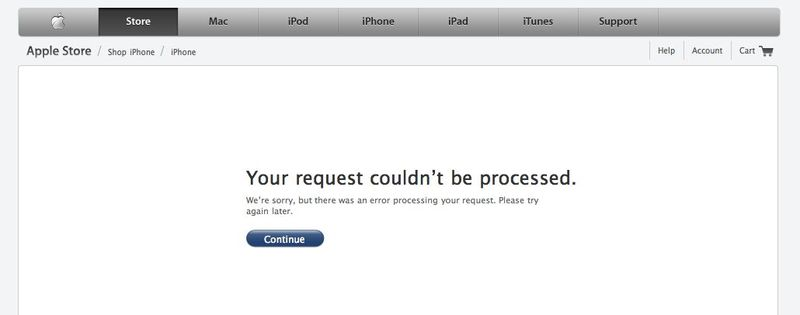 Apple iPhone 4 error message