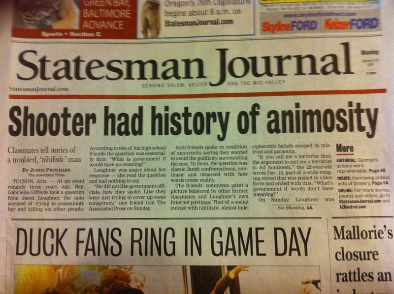 Statesman Journal front page
