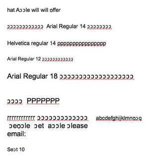 Arial in pages