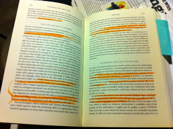 Highlighted book