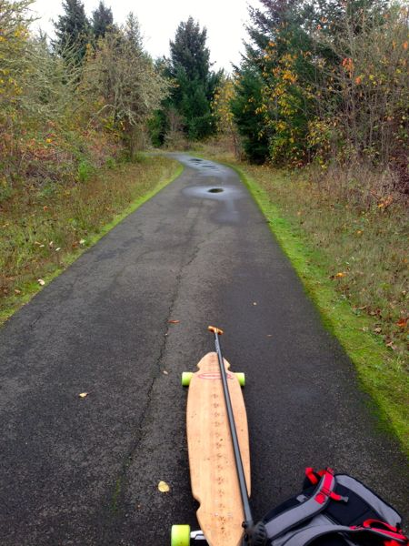 Norgeboard on Minto Brown trail