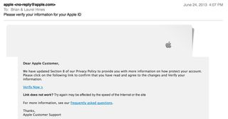 Apple ID scam