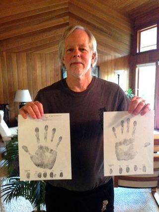 Brian and hand prints