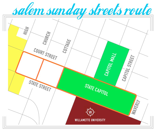 Sunday Streets route
