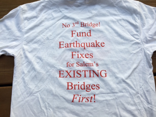 No 3rd Bridge t shirt back