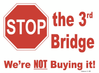 Stop the 3rd Bridge Lawn Sign