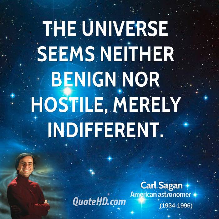 Indifferent universe