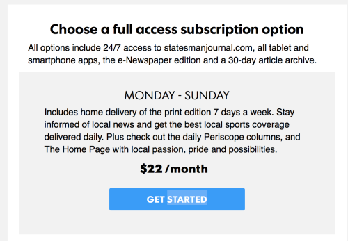 Salem Statesman Journal seems to be scamming subscribers