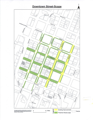 Downtown Streetscape map