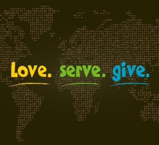 Love serve give