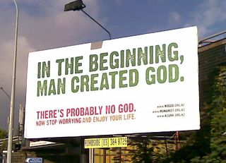 Man created God