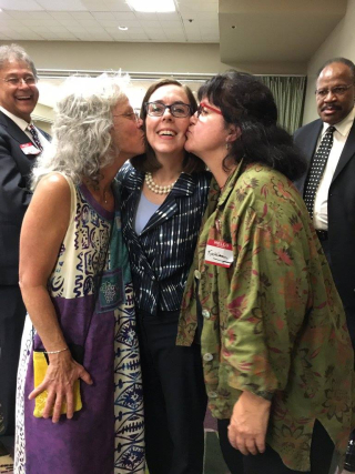 Kate Brown and friends