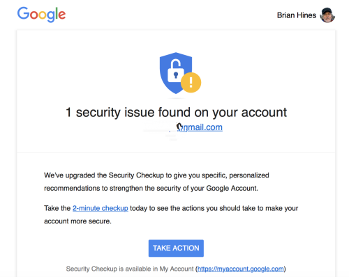 Google security alert