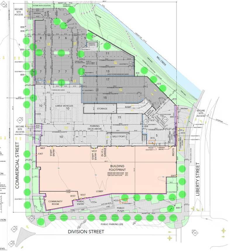 Salem police facility site plan