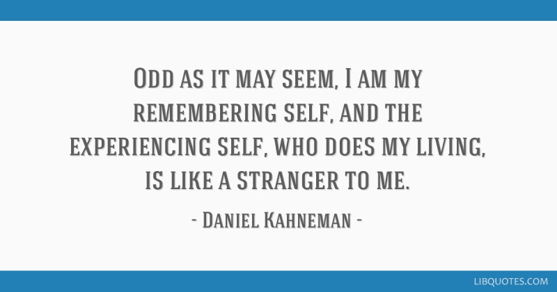 Kahneman quote