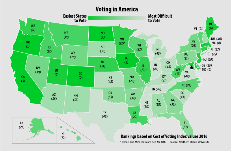 Easy voting map