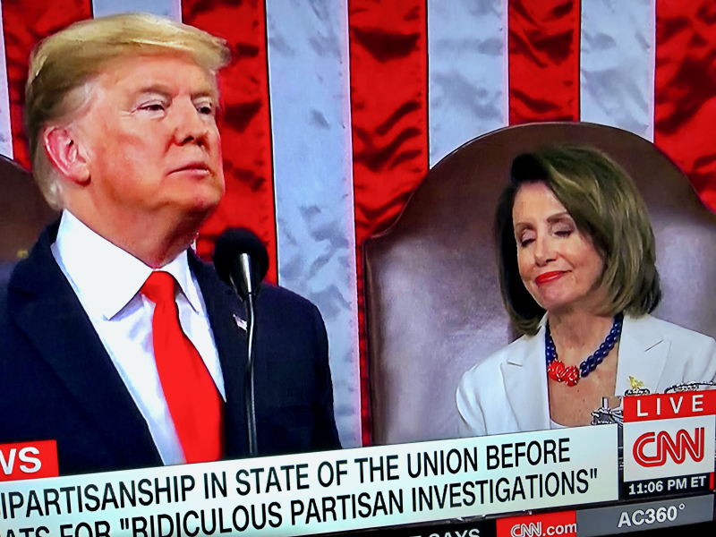 Pelosi State of Union smirk