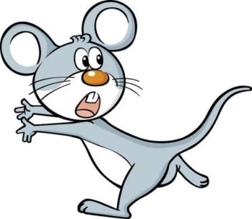 Scared mouse