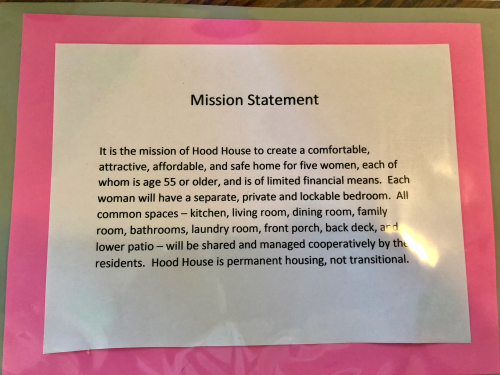 Hood House Mission Statement