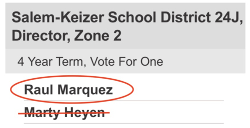Vote for Marquez