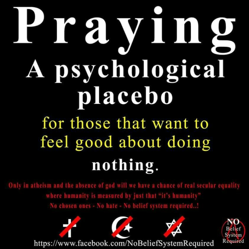 Prayer does nothing