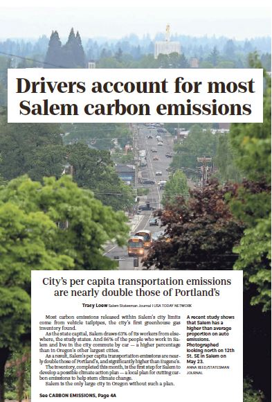 Cars and Carbon Pollution in Salem