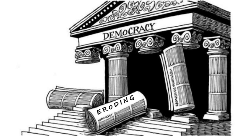 Democracy dying