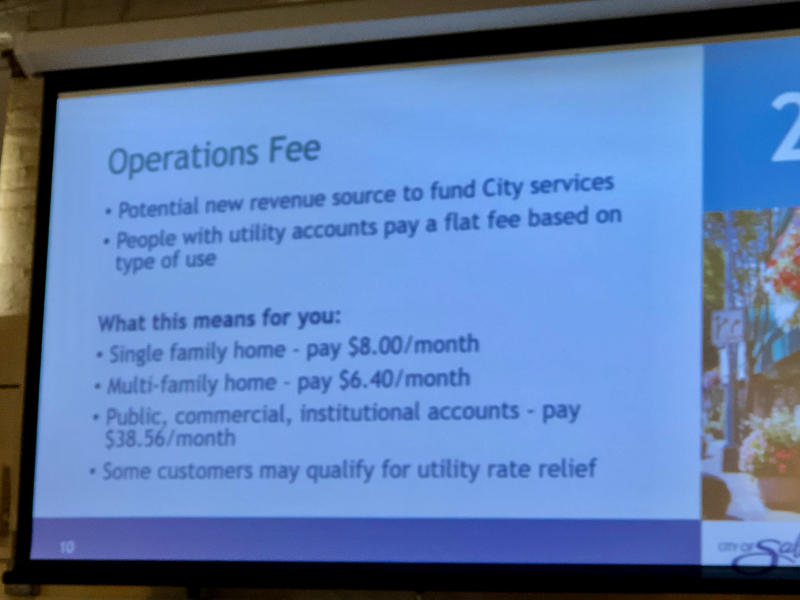 City of Salem operations fee