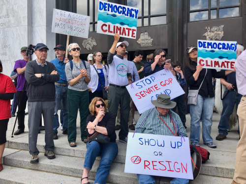Climate bill rally