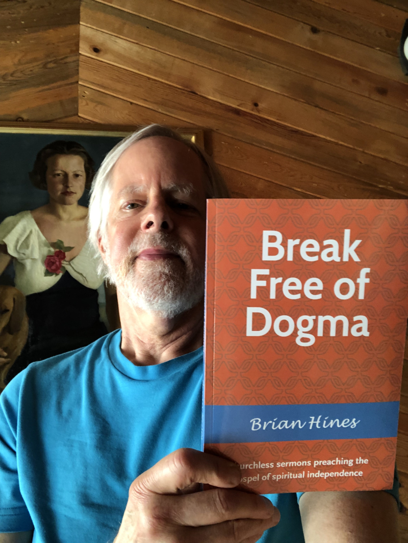 Brian Hines with book