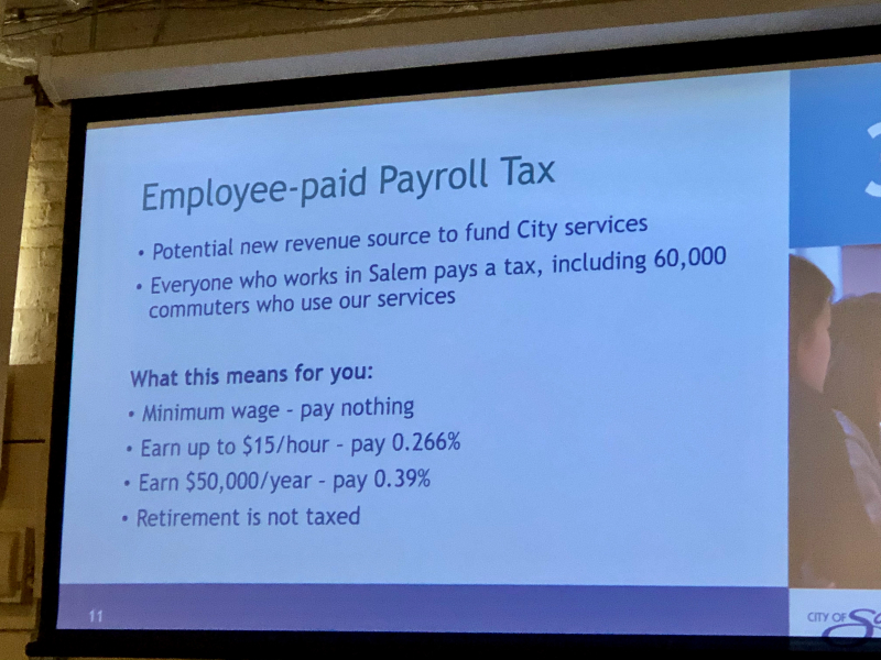 City of Salem payroll tax