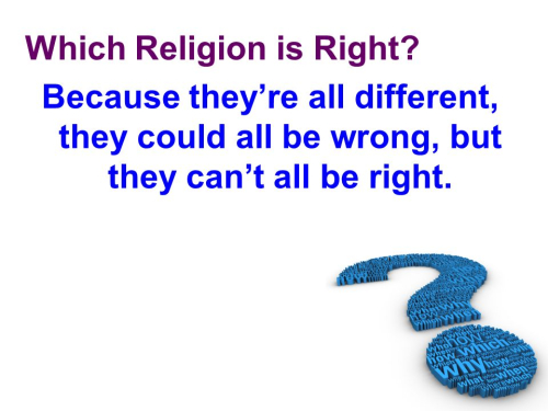 Religions wrong