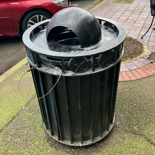 Downtown Salem trash can