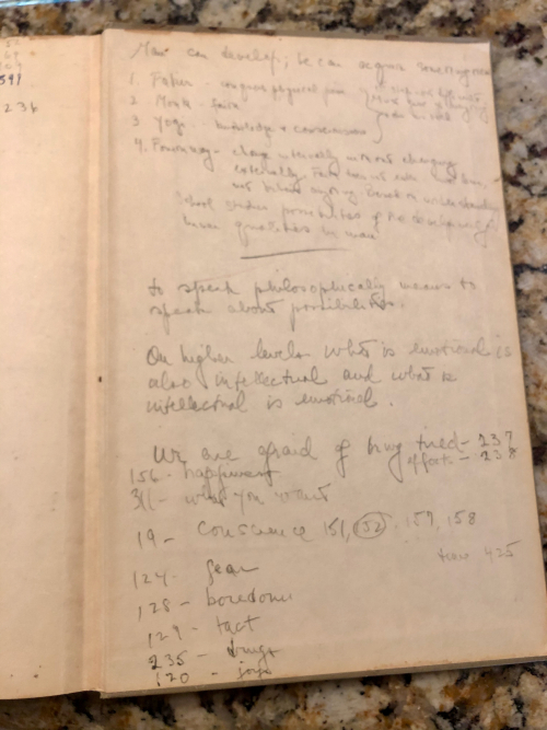 My mother's book notes
