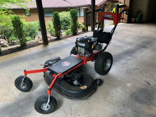 DR Field Mower with lawnmower attachment