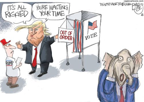 Trump discourages voting