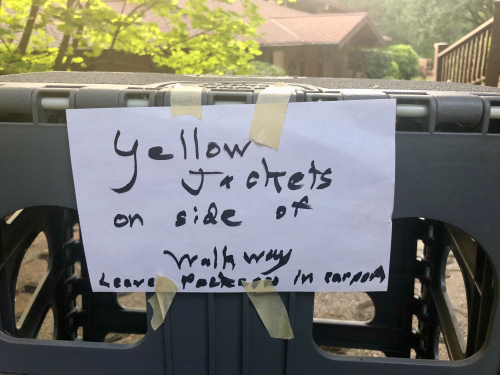 Yellow jackets sign